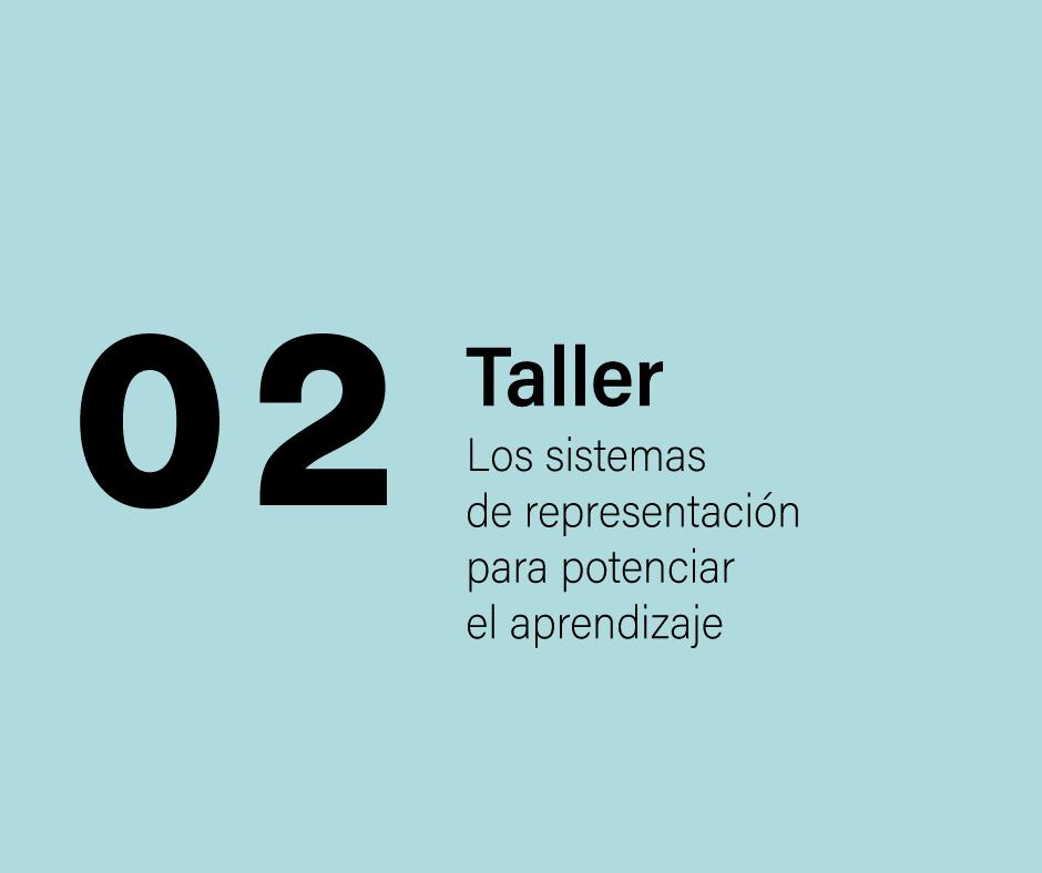 Taller 2: Los  sistemas de representación para potenciar el aprendizaje