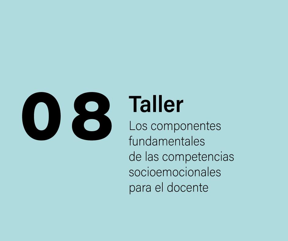 Taller 8: Los componentes fundamentales de las competencias socioemocionales par el docente
