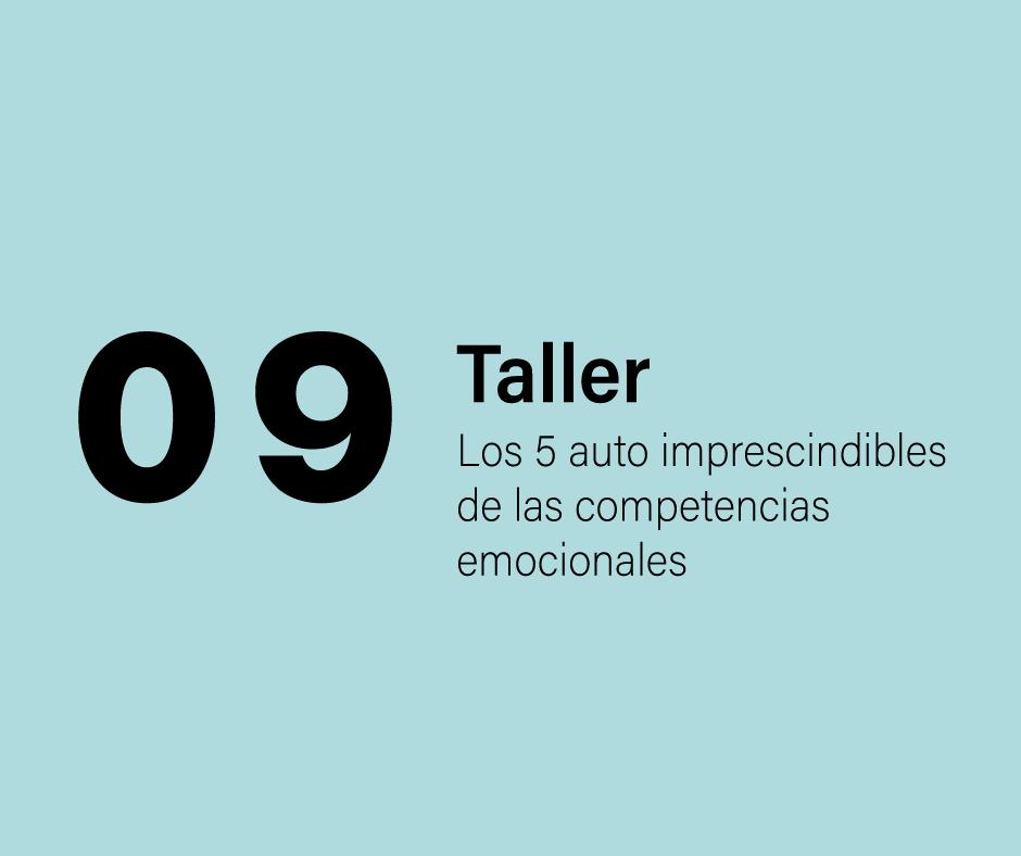 Taller 9: Los 5 autos imprescindibles de las competencias emocionales